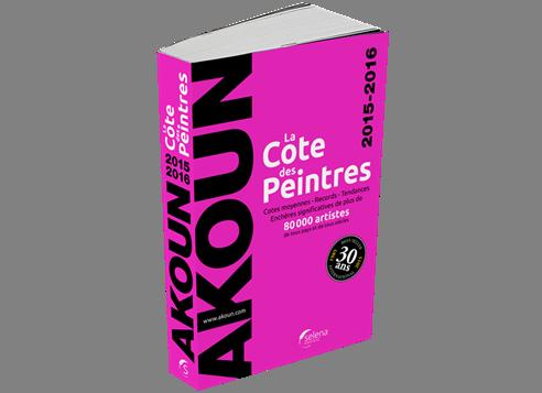 La cote des peintres 2012 for Cotation akoun